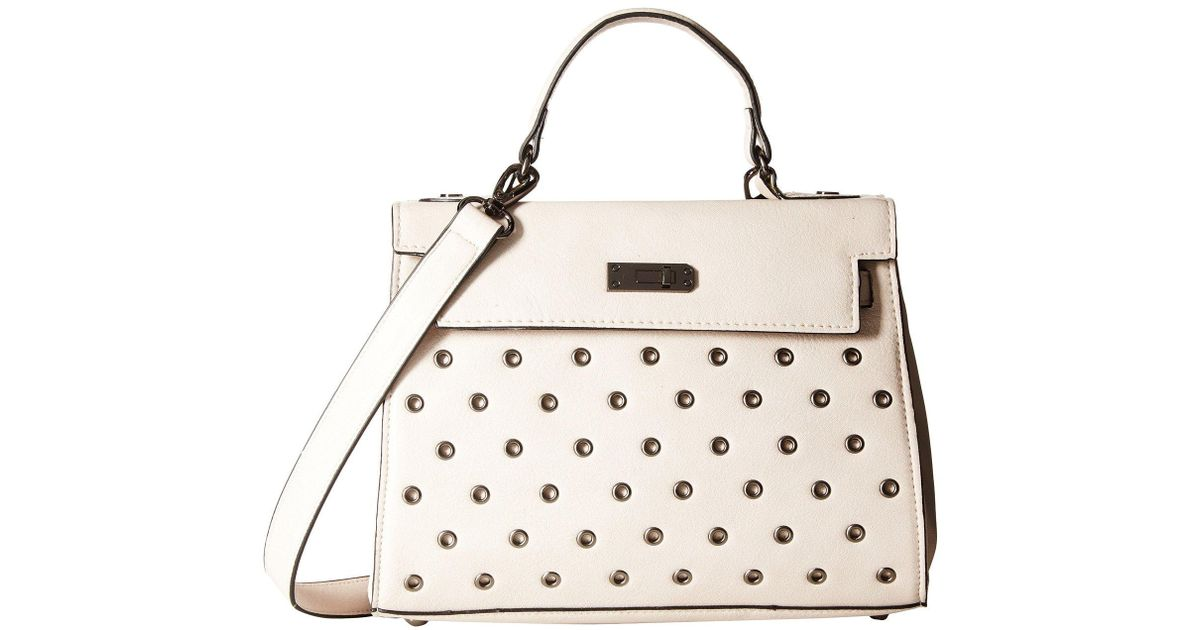 d3057f2e9414 Lyst - Circus by Sam Edelman Lola Satchel W  Grommets in Natural
