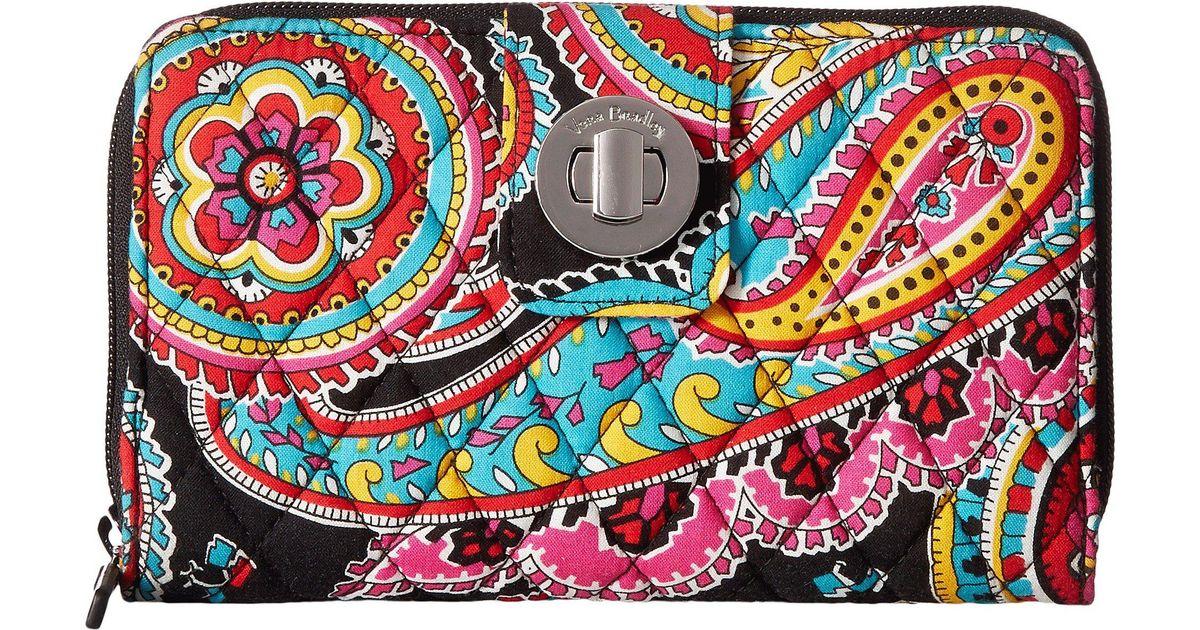 570b36e7d06c9 Lyst - Vera Bradley Turnlock Wallet in Black