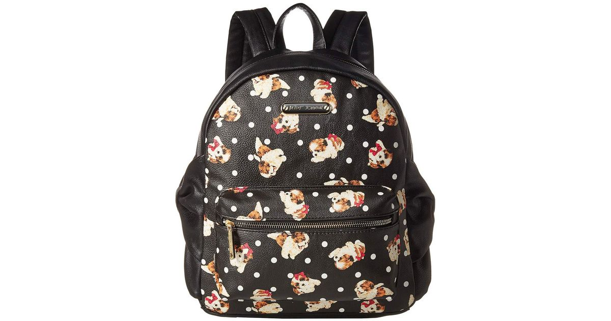 d626f6d8a2 Betsey Johnson Side Bow Backpack (black/multi) Backpack Bags in Black - Lyst
