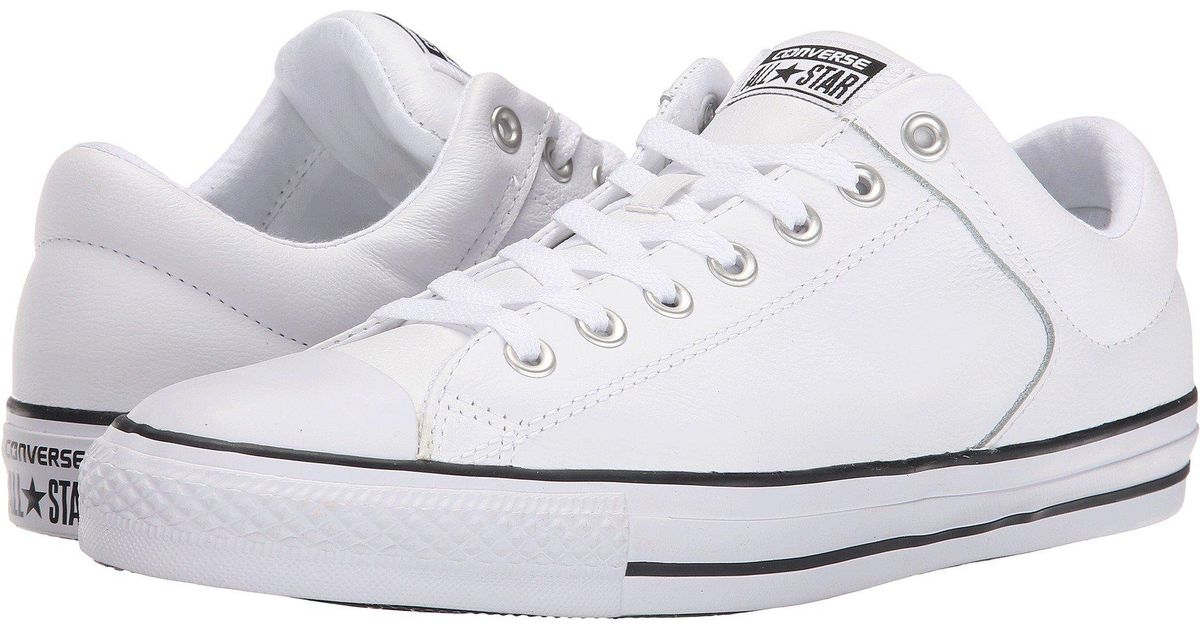 c47c4207720 Lyst - Converse Chuck Taylor® All Star® Hi Street Ox Leather in White for  Men