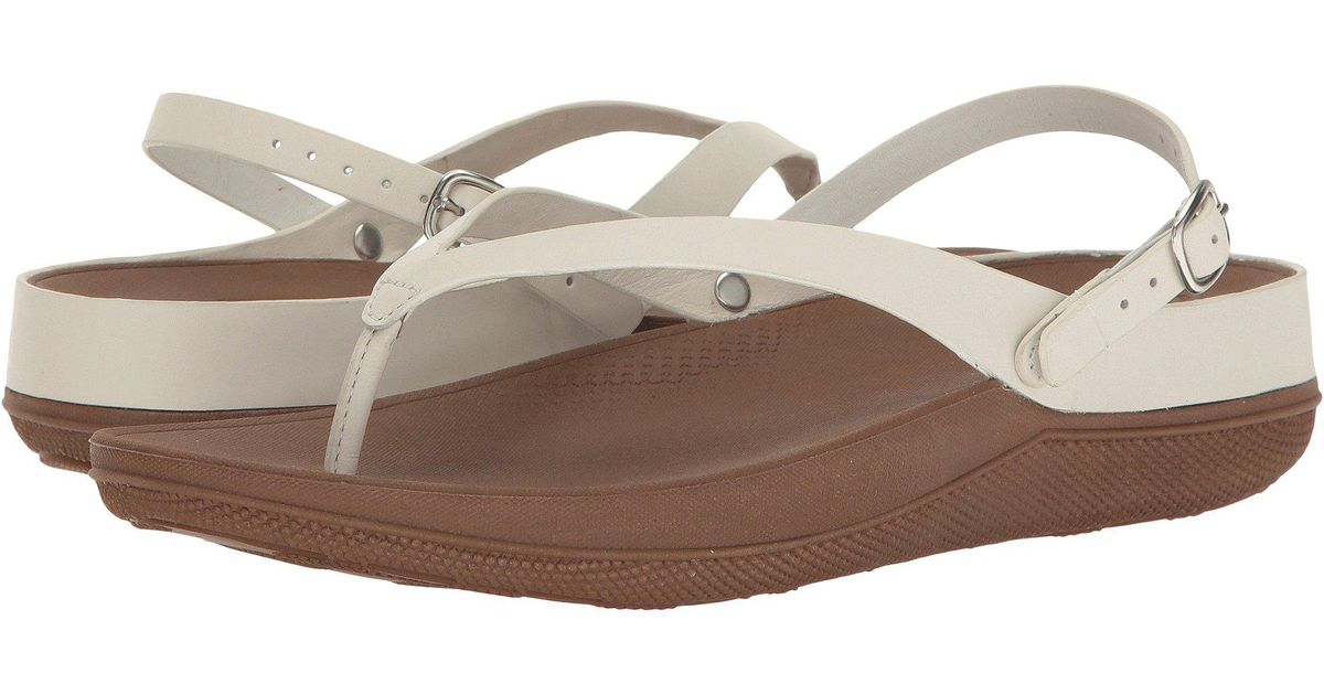 2bb5f72a71023 Lyst - Fitflop Flip Leather Sandals in Brown