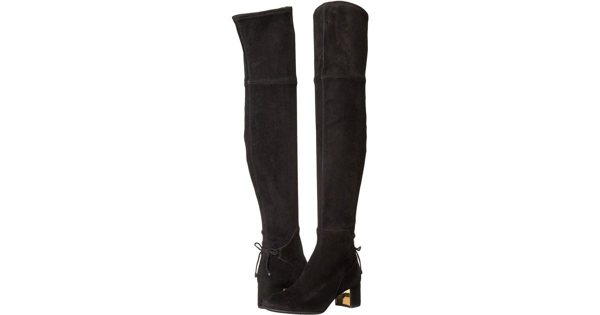 97686a3b7e0d Lyst - Tory Burch Laila 45mm Over The Knee Boot in Black