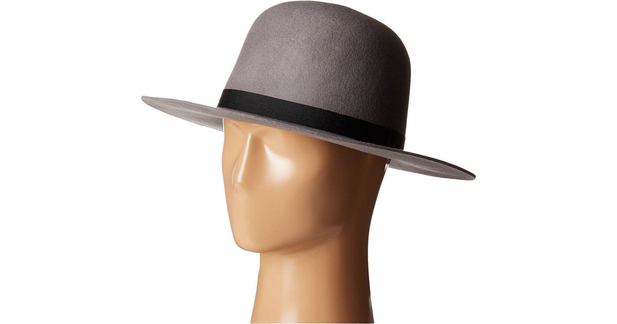 b2080086378633 ... best lyst brixton colton hat in gray 994c9 ccd56