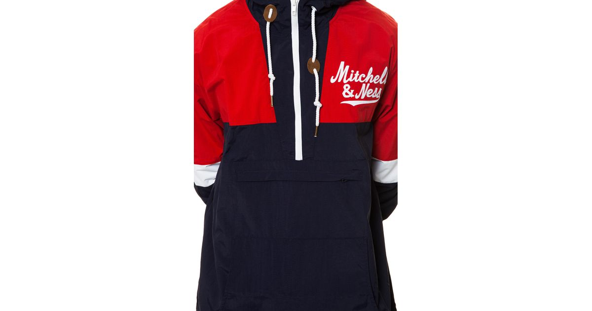 a99185fc2e0 Lyst - Mitchell   Ness The Branded Men Half Zip Windbreaker in Blue for Men