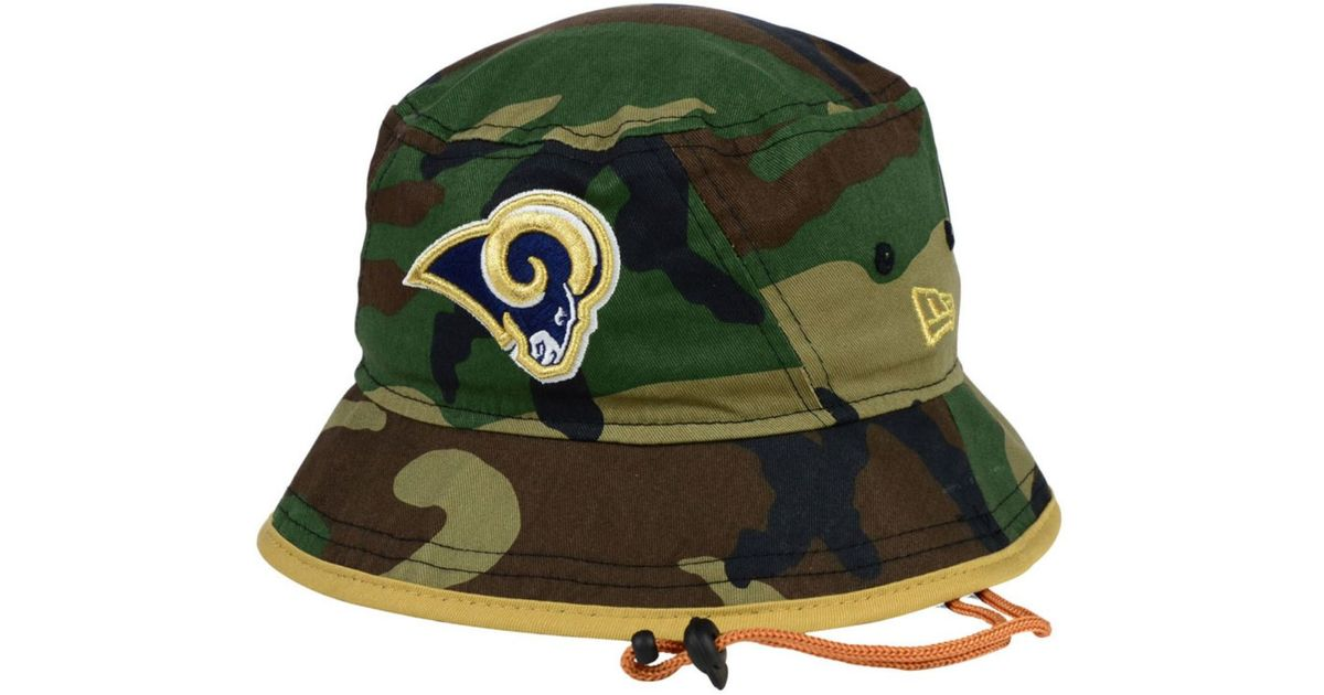 3d62b5b9e ... orleans saints new era gray crafted in the usa 59fifty fitted hat ebc93  361c1 2e354; cheap ktz green st. louis rams camo pop bucket hat for men  lyst ...