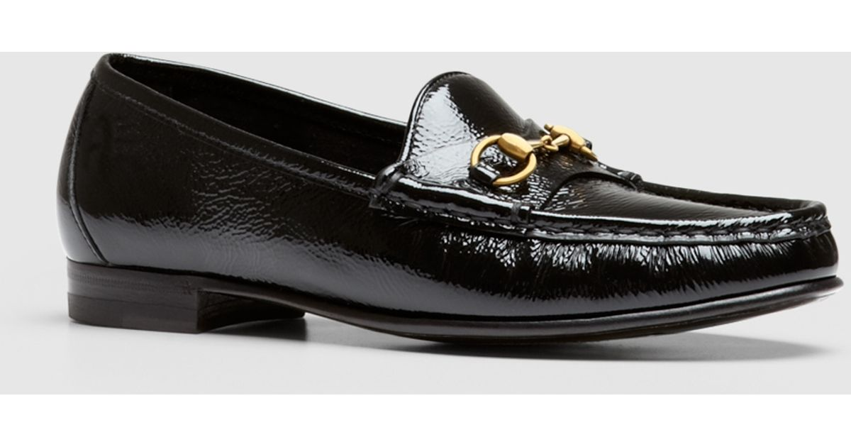 6a7aa1c9bce Lyst - Gucci 1953 Horsebit Loafer In Patent Leather in Black