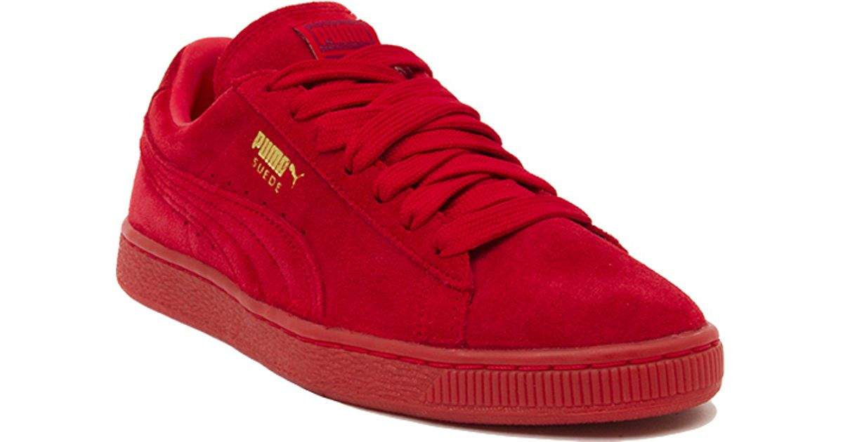 8e60a912d07a58 Lyst - PUMA Suede Classic + Mono Iced Sneakers in Red