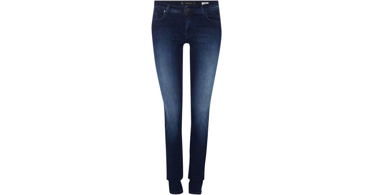 c16d189af7 Salsa Colette Comfort Skinny Jean In Dark Wash in Blue - Lyst