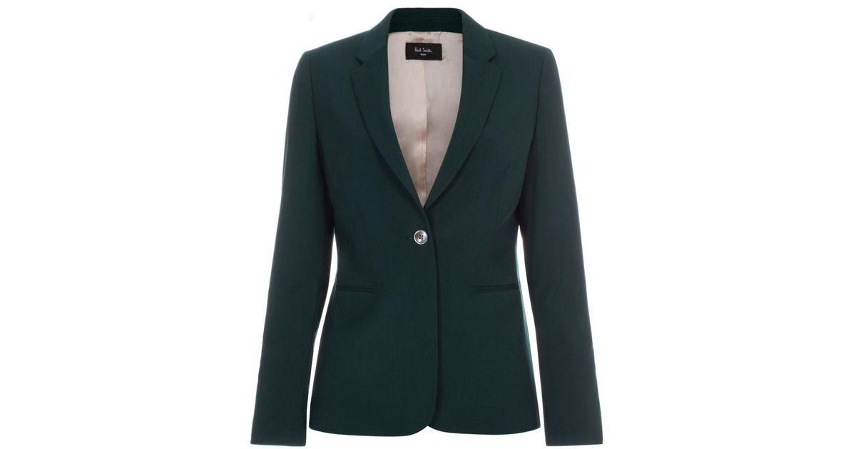 ebe8a3beb86 Paul Smith Women s Dark Green Wool Blazer in Green - Lyst