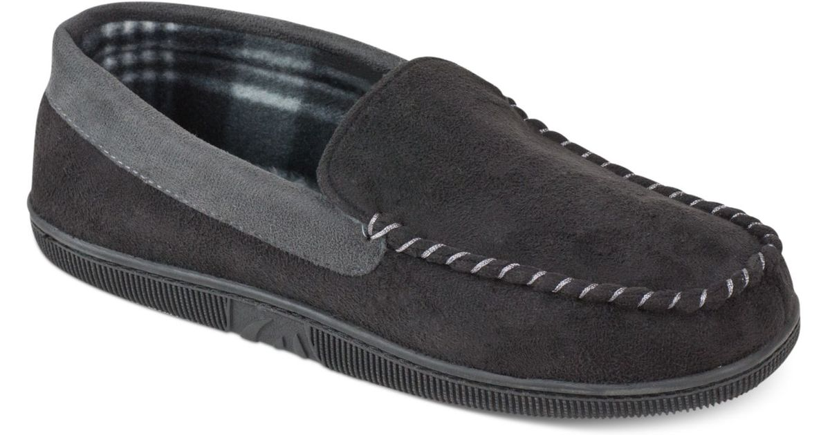 a8594afa1d1f Lyst - Weatherproof 32 Degrees Heat By Men S Two-Tone Moccasin Slippers in  Black for Men