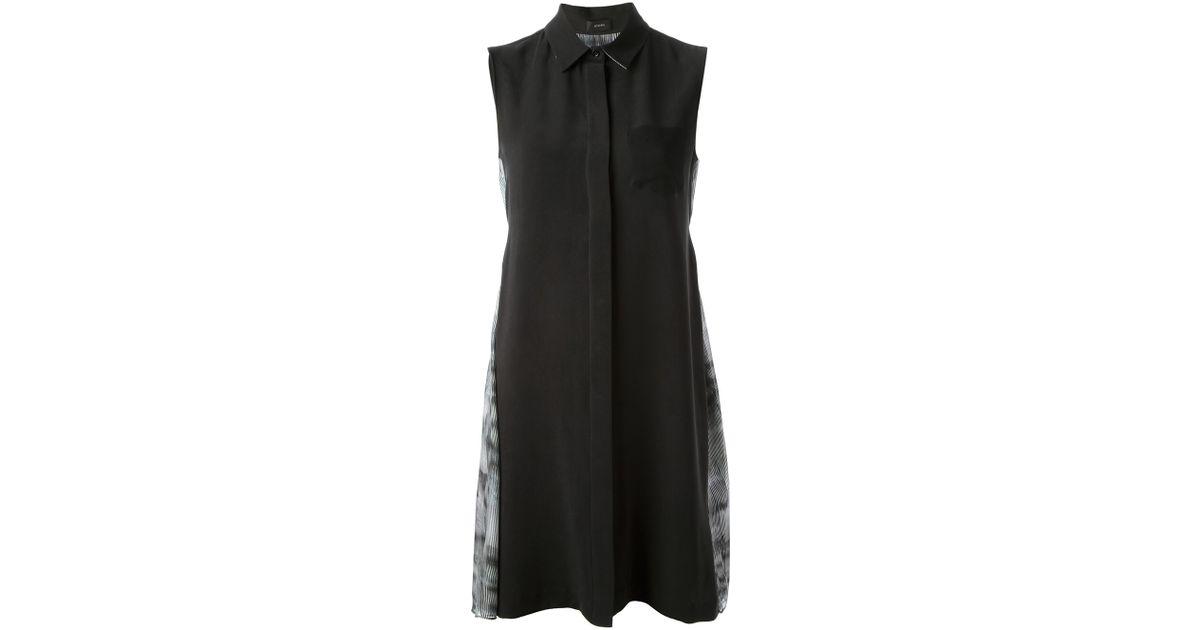 01c6b49c6b Lyst - JOSEPH Sleeveless Shirt Dress in Black