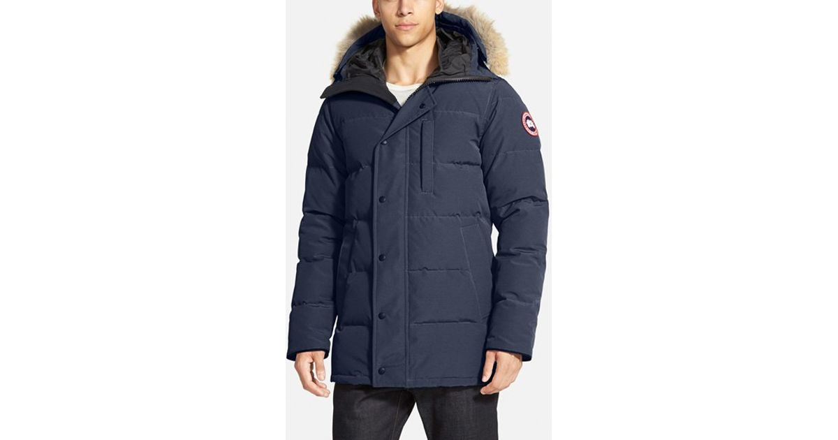 Canada Goose' Chateau Parka with Fur Hood - Navy