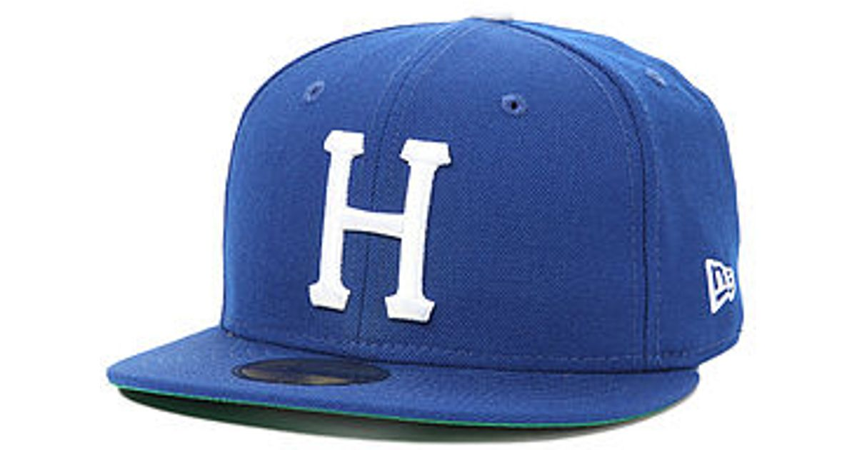 981d95620a8 ... coupon lyst huf the classic h new era fitted hat in blue for men 62477  440d2