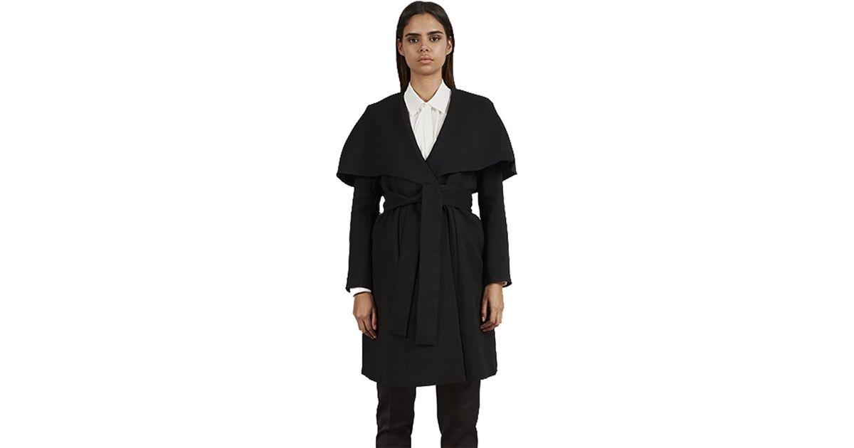 c42ac0ff956 Lyst - Keepsake Keepsake Wide Awake Coat In Black in Black