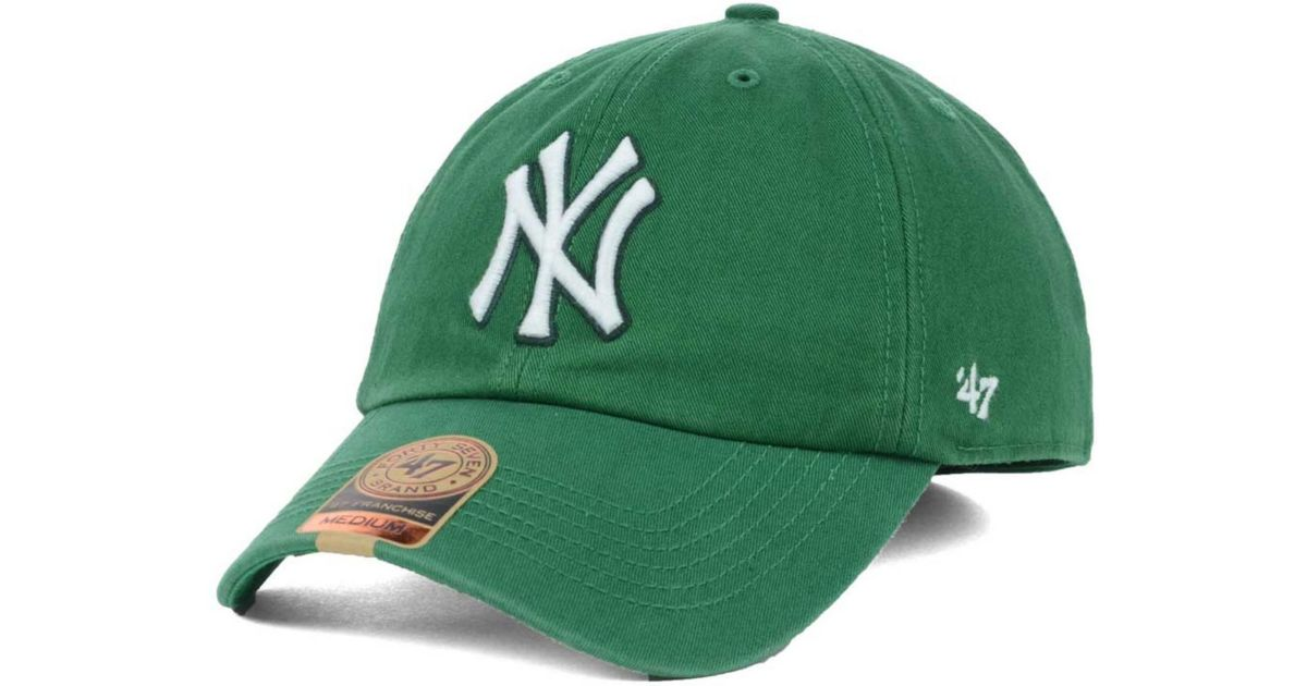 low priced 55eca 1ec33 ... cheap lyst 47 brand new york yankees mlb kelly 47 franchise cap in  green for men
