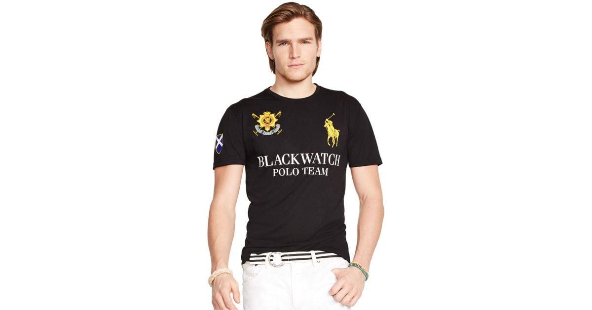 3e37550d70c9 Lyst - Polo Ralph Lauren Black Watch Performance Jersey Crew-Neck T-Shirt  in Black for Men