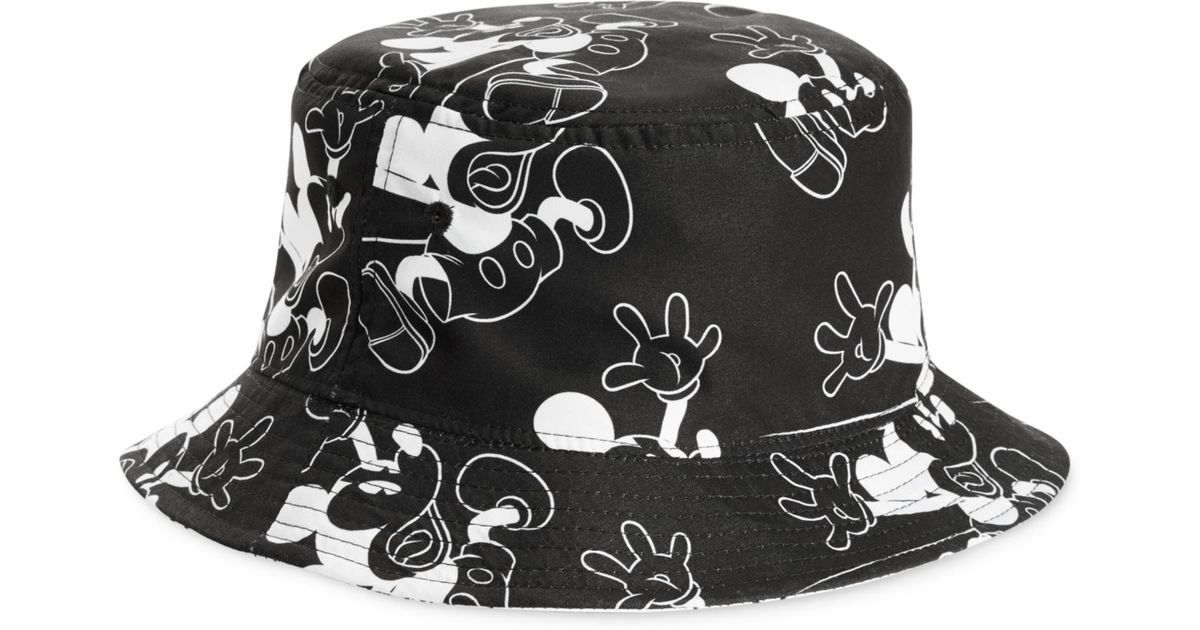 4142bd84e34 ... sale lyst neff reversible hey mickey bucket hat in black for men 9a826  b5d96