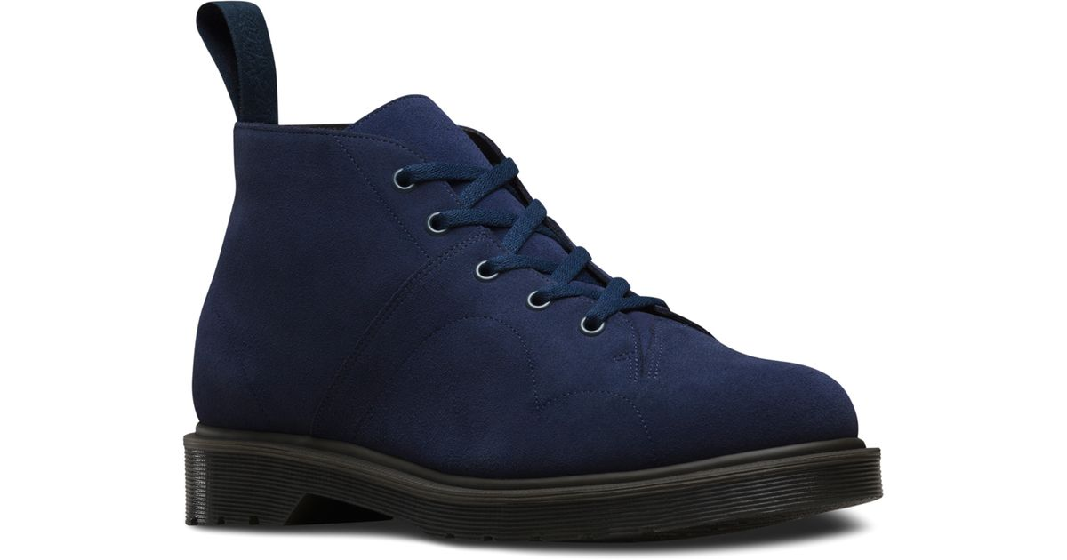 288334922c Dr. Martens Church 5-eye Monkey Boot in Blue for Men - Lyst