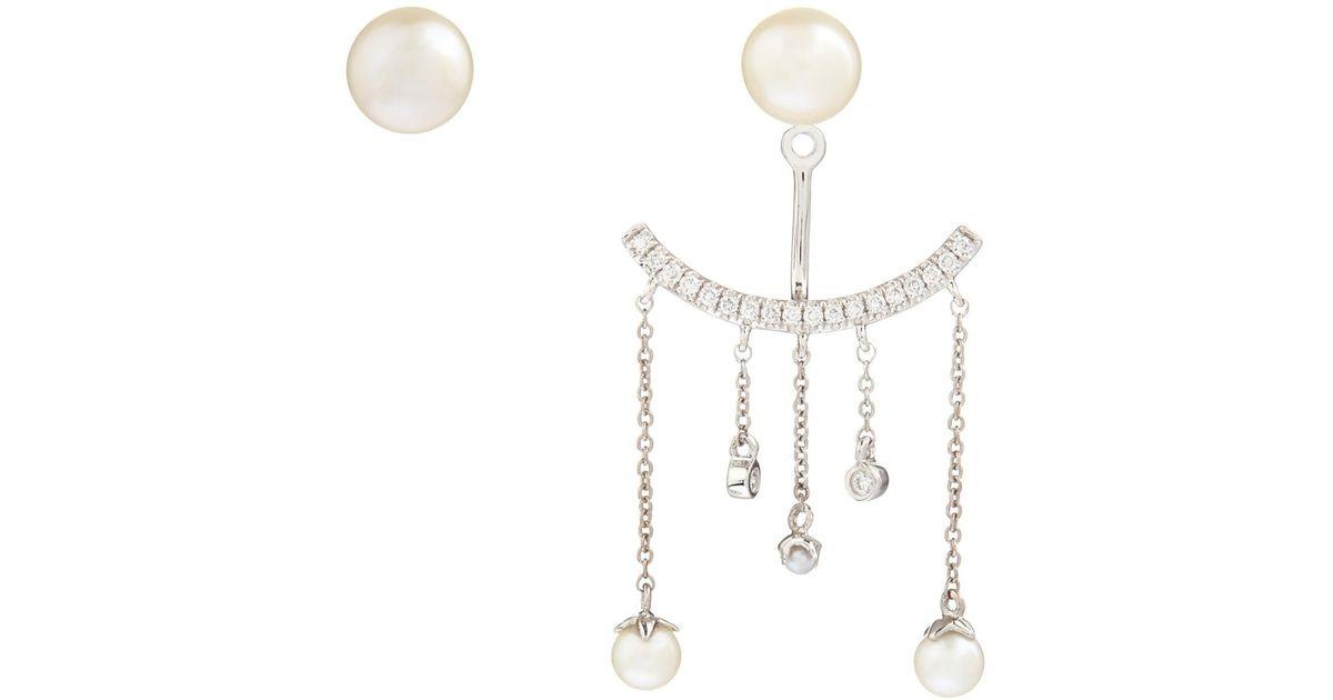 Elise Dray Invisible Drop Earrings in Metallics owqdtMB2