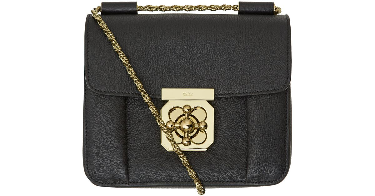 8c075167c7 Chloé - Small Black Elsie Leather Chain Bag - Lyst