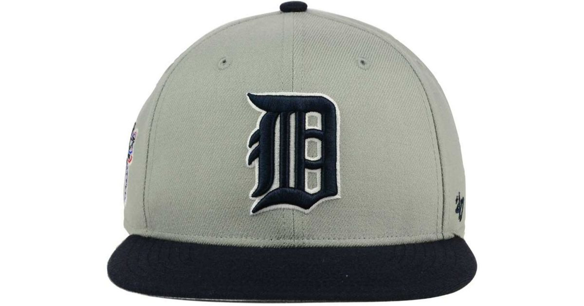 6604cf91009d0 ... discount code for lyst 47 brand detroit tigers sure shot snapback cap  in blue for men