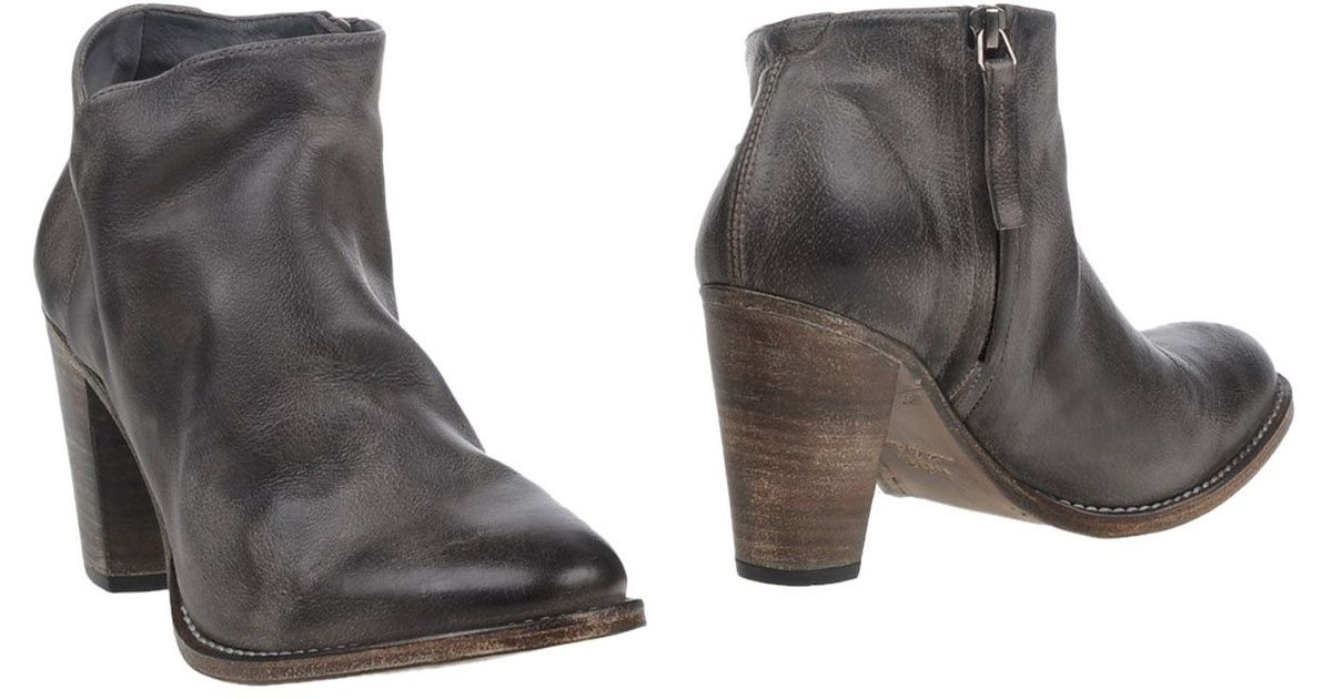 ndc ankle boots in gray lead lyst