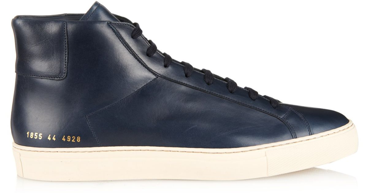 57398d606db1f Lyst - Common Projects Achilles Leather Sneakers in Blue for Men