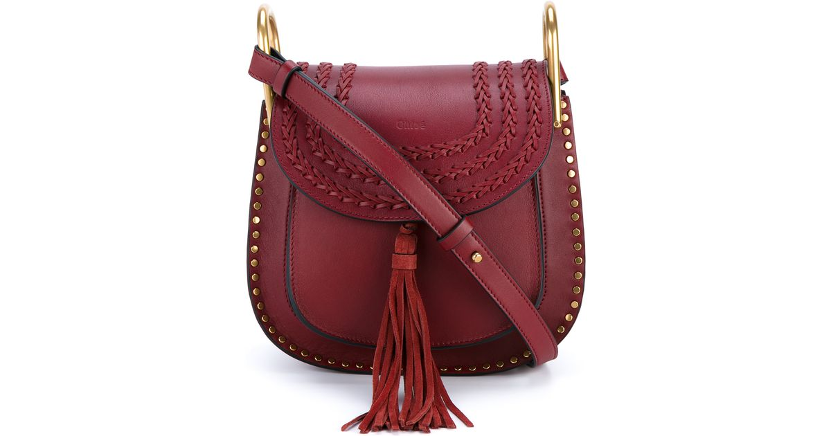 d48c67357 Chloé Hudson Small Leather Shoulder Bag in Red - Lyst