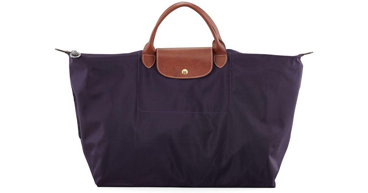 9fb901fa4c2 Lyst - Longchamp Le Pliage Monogram Large Travel Tote Bag in Purple
