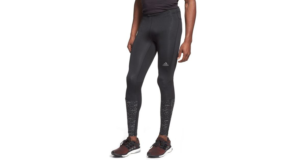 7c6d25bd93c11 Lyst - adidas  supernova  Long Graphic Running Tights in Black for Men