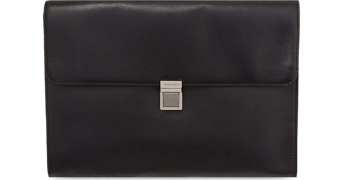 182d8ffa951f Michael Kors Maya Leather Document Holder in Black - Lyst