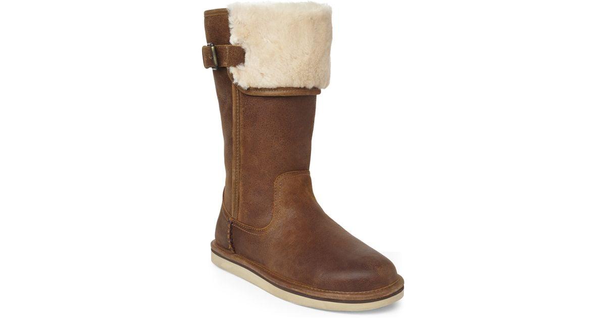ugg australia plumdale tall boot chestnut suede