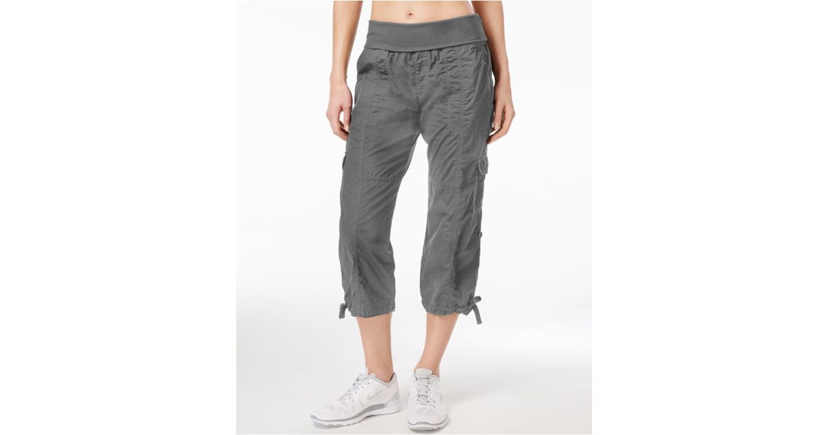 New Calvin Klein Cropped Cargo Pants In Blue Navy  Lyst