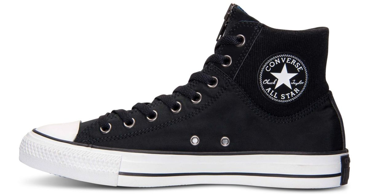 555ea489b98c Lyst - Converse Men s Chuck Taylor All Star Hi Ma-1 Zip Casual Sneakers  From Finish Line in Black for Men