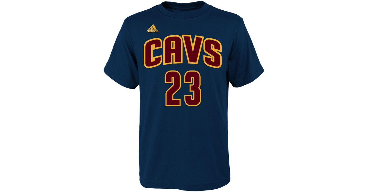 c997fe309 adidas Kids  Lebron James Cleveland Cavaliers Player T-shirt in Blue for  Men - Lyst