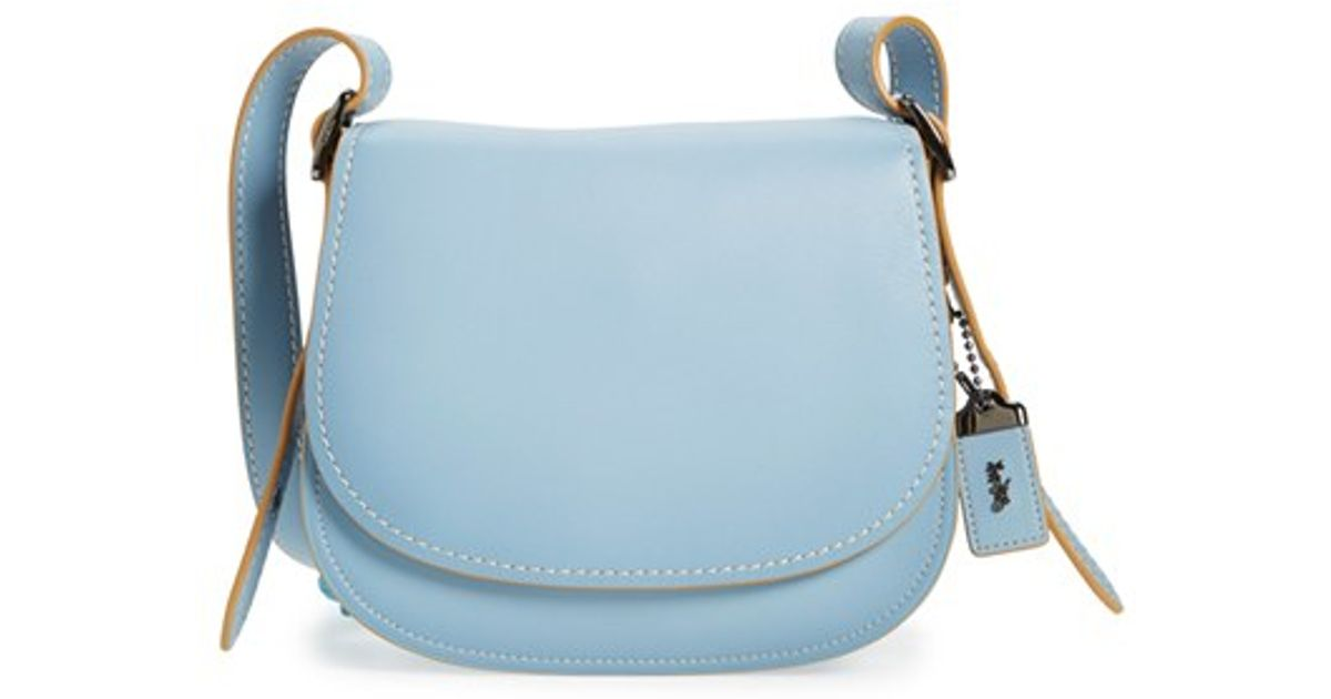 8d28a33756 ... ireland lyst coach 1941 23 leather saddle bag in blue 80b7f dd8b7