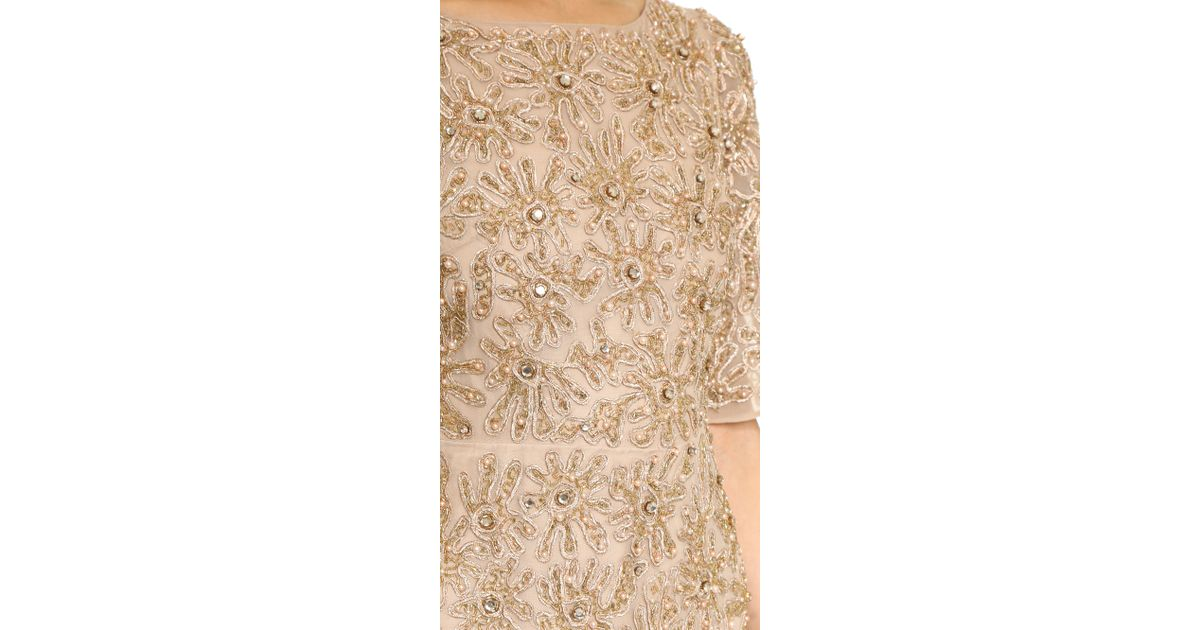 68e422883f Alice + Olivia Drina Embellished Dress - Nude/Rose Gold in Natural - Lyst
