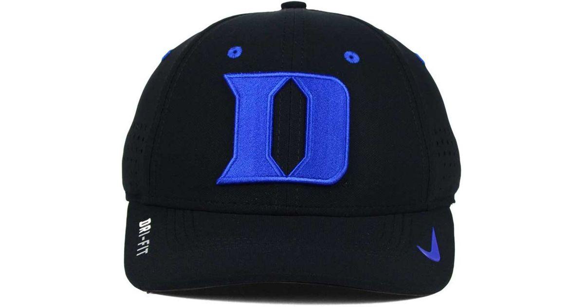 af6dabb0ee7 Lyst - Nike Duke Blue Devils Sideline Cap in Black for Men