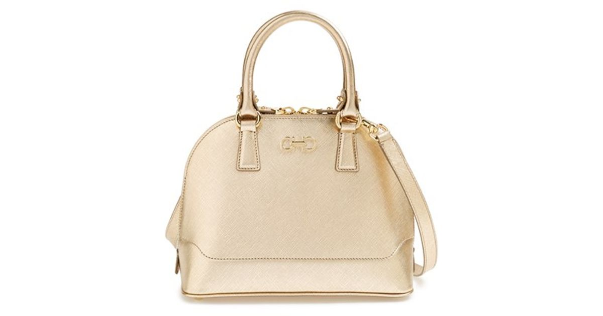 6d1b848af569 Lyst - Ferragamo  mini Darina  Dome Satchel - Metallic in Metallic