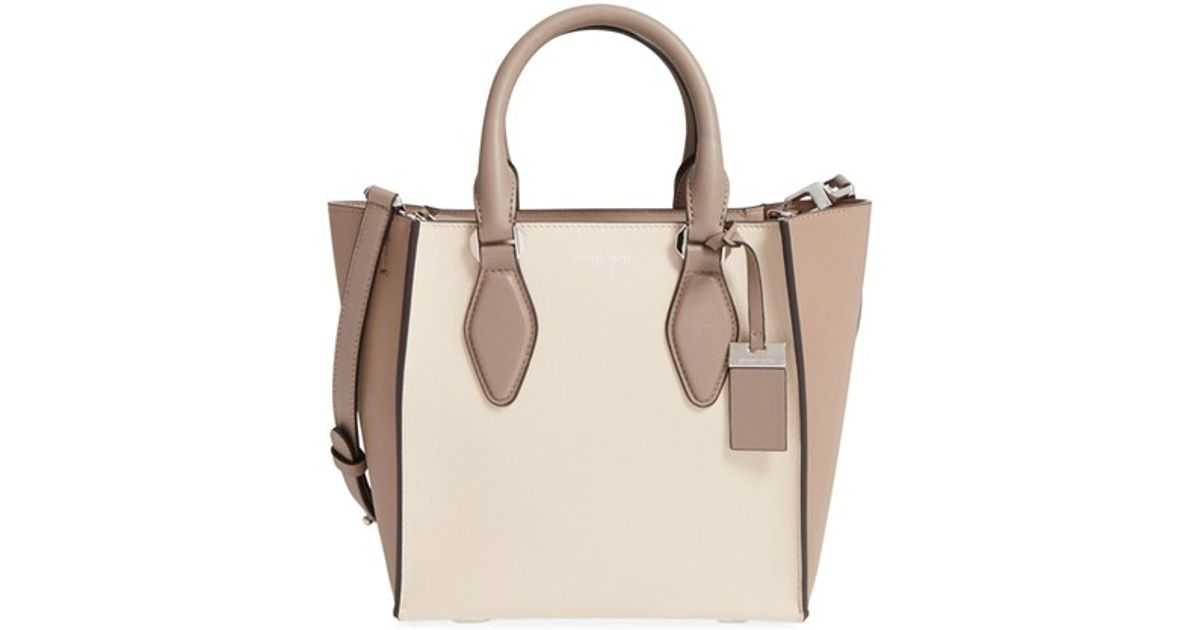 2e687d9072cf Lyst michael kors small gracie leather tote in gray jpeg 1200x630 Kors  gracie