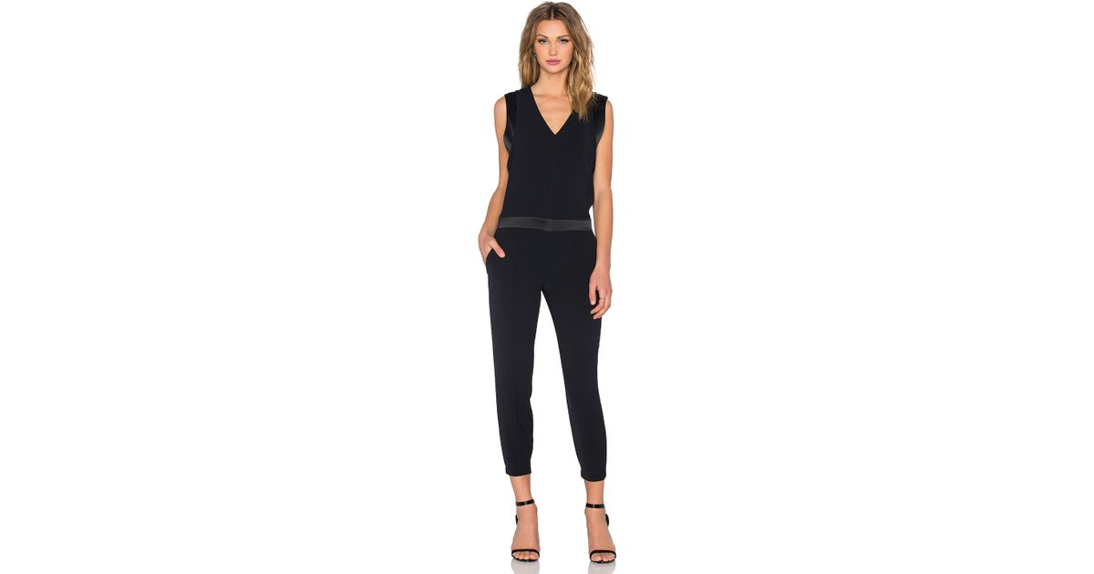 10818add086 Lyst - Vince Pintuck Jumpsuit in Black