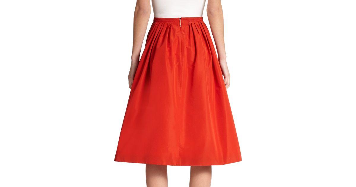 Red Taffeta Skirt