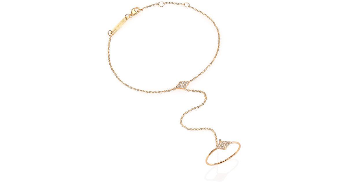 Zoë Chicco 14k Yellow Gold & Round Diamond Hand Chain ggEnySXlNx