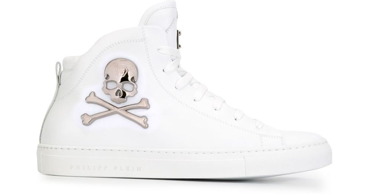 White sneakers with skull Philipp Plein AVDZlQ2oO