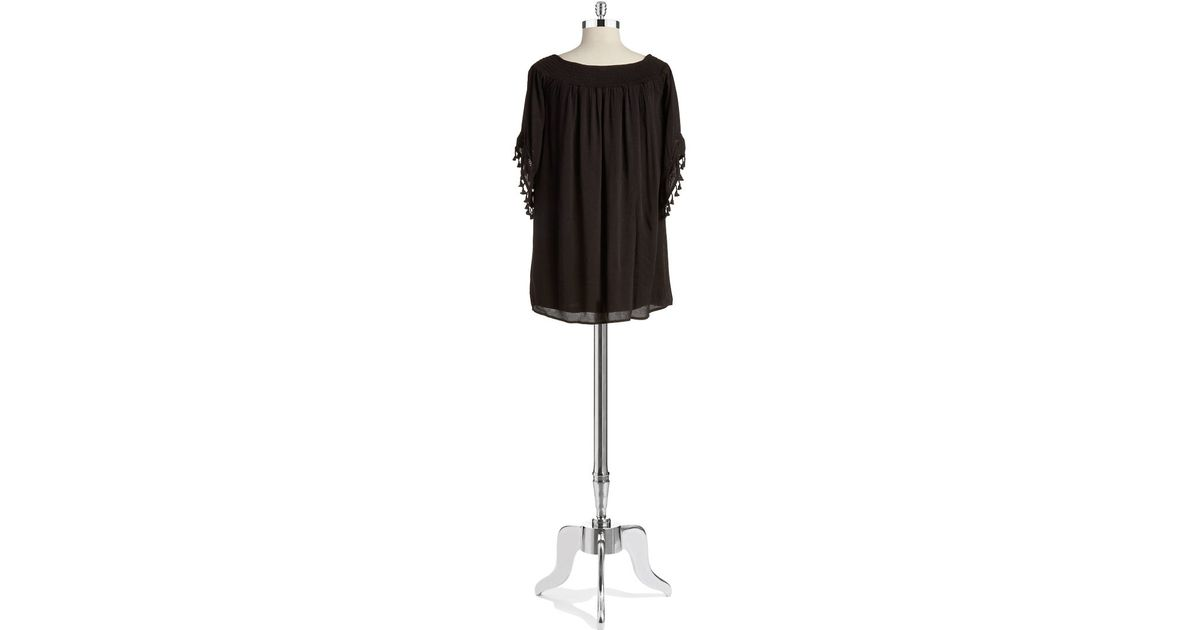 Lyst Lord Taylor Off The Shoulder Dress In Black