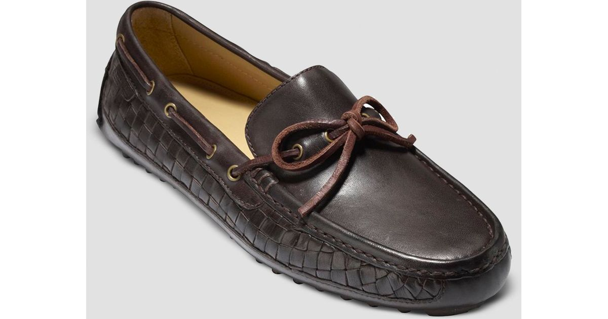 a9784ac68b311 Lyst - Cole Haan Grant Camp Woven Moccasin in Brown for Men