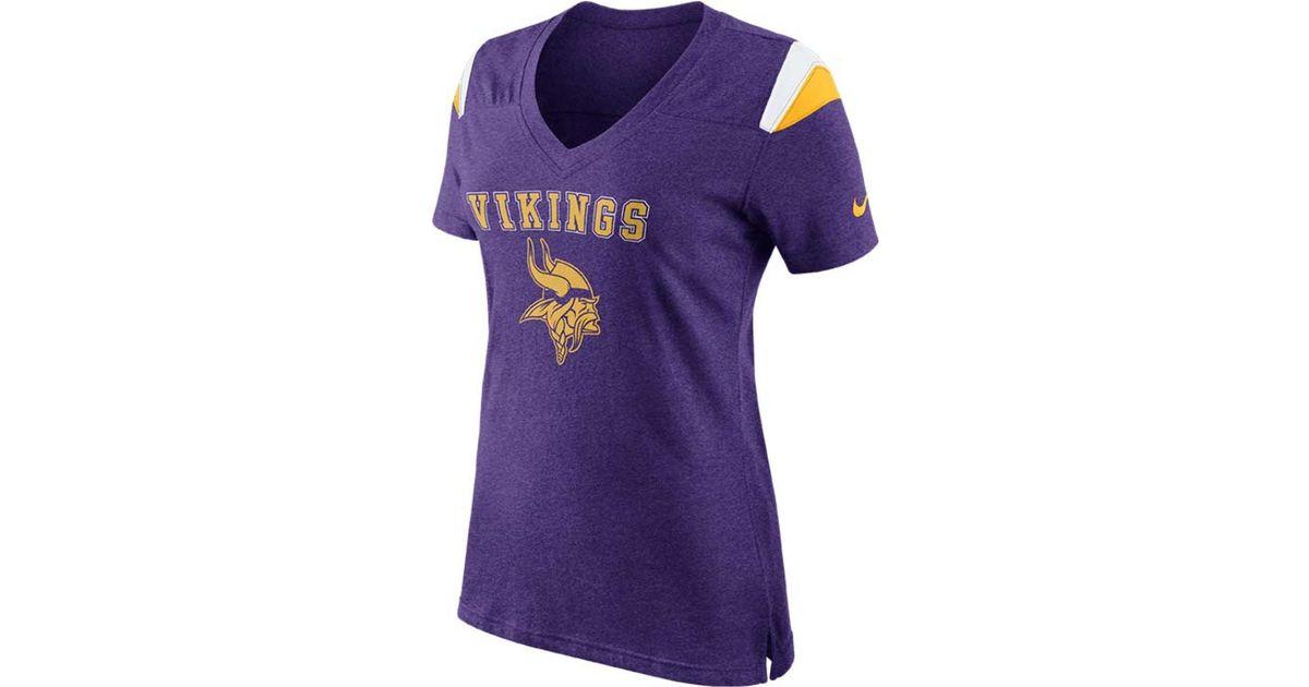 Lyst - Nike Women S Minnesota Vikings Fan T-Shirt in Purple 726c012c7