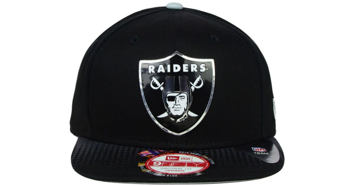 a74e601449a Lyst - KTZ Oakland Raiders 2015 Nfl Draft 9Fifty Snapback Cap in Black for  Men