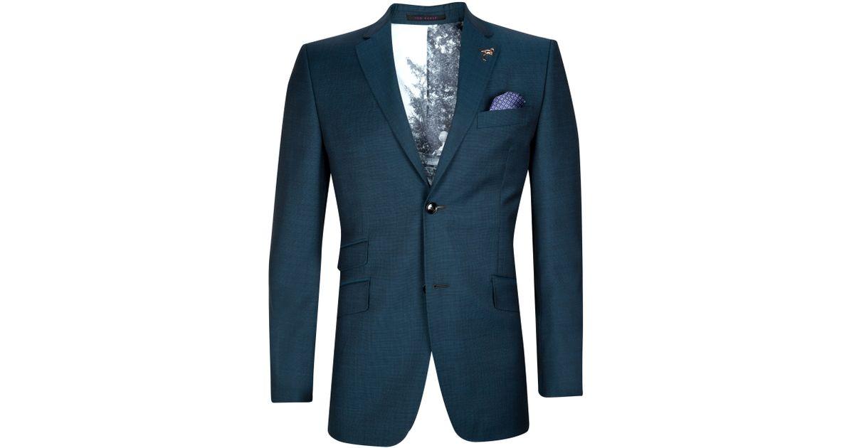 2dd09c7f1 Ted Baker Doltjak Sterling Wool Suit Jacket in Blue for Men - Lyst