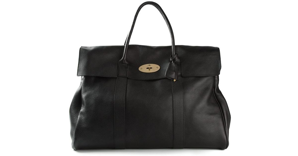 7ee6c3abf769 Mulberry Oversized Bayswater Bag in Black - Lyst